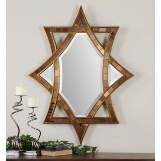 Zorion Antiqued Gold Leaf Mosaic Mirror
