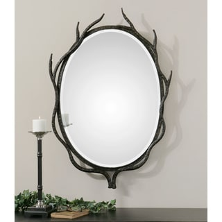 Esher Dark Bronze Oval Metal Mirror