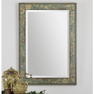 Venosa Aged Blue Green Mirror