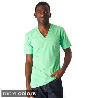 American Apparel Unisex Poly-Cotton Short Sleeve V-Neck