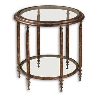 Leilani Gold Round End Table