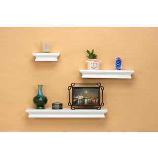 Wooden Shelves White (Set of 3)