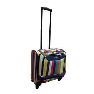 Jourdan Under Seater Stripe 14-inch Carry-on Spinner Laptop Case