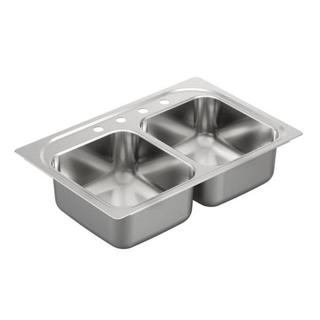 Moen Bg222134 Stainless Drop In Sink (33 x 22 x 8 inches)