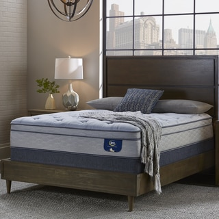 Serta Perfect Sleeper Bristol Way Supreme Gel Euro Top Split Queen-size Mattress and Foundation Set