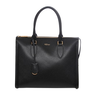 Alexander McQueen Heroine Leather Zip-Up Tote