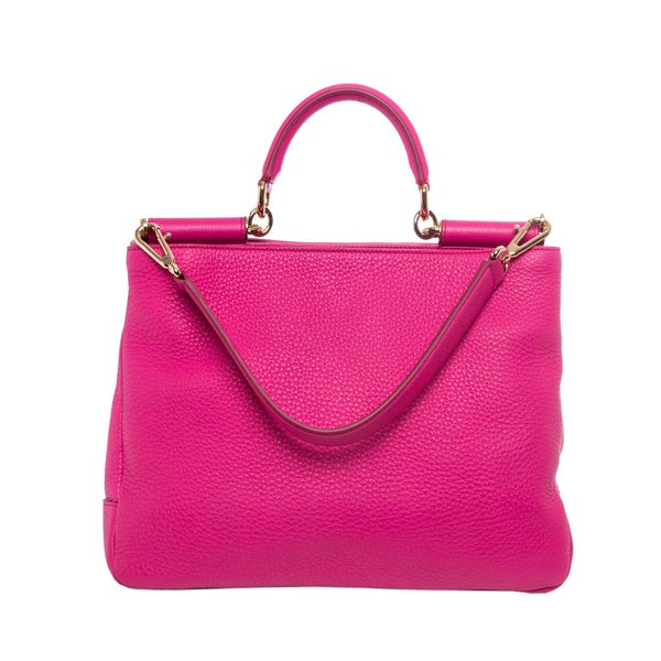 Hot Pink Leather Shoulder Bag 61