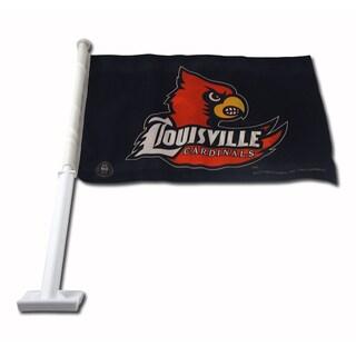 NCAA Louisville Cardinals Car Flag
