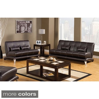 Furniture of America Artzy 2-piece Leatherette Sofa Set