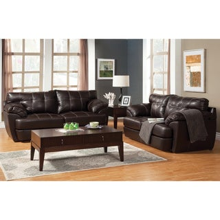 Furniture of America Marzoni Contemporary Leatherette 2-piece Sofa Set