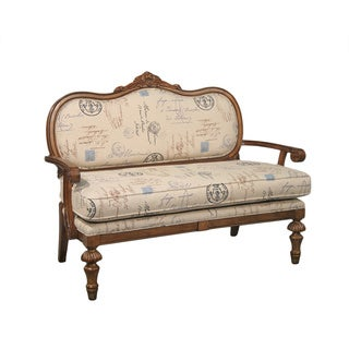 Elsa Script Print English-arm Settee