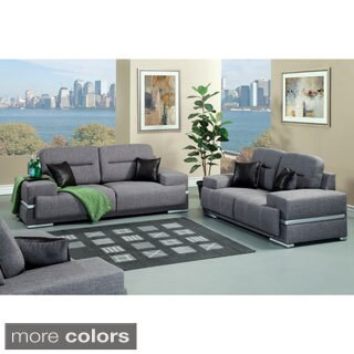 Furniture of America Thieslly Contemporary 2-piece Sofa Set