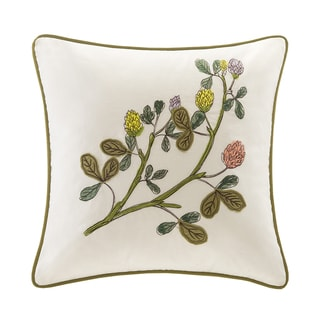 Harbor House Eternity White Cotton Square Pillow