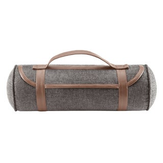 Woolrich Oak Harbor Grey Satchel Style Neckroll Pillow