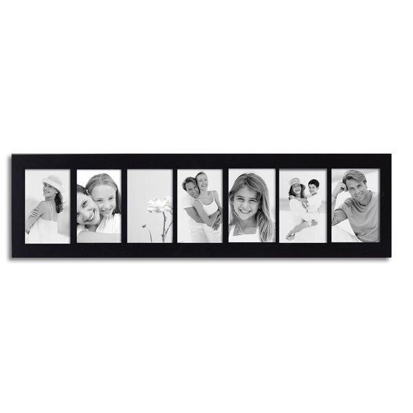 Adeco 7 Opening 4x6 Collage Black Picture Frame 16276137
