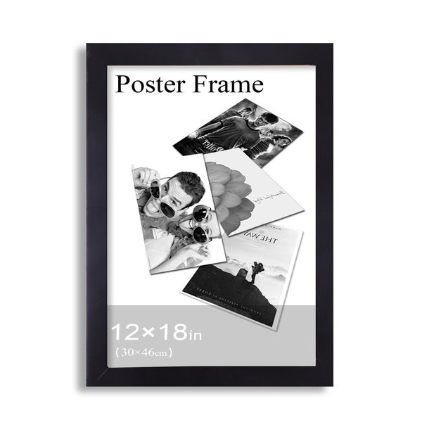 Adeco Clear Plexiglass Window Black Poster Frame (12 x 18 inches)