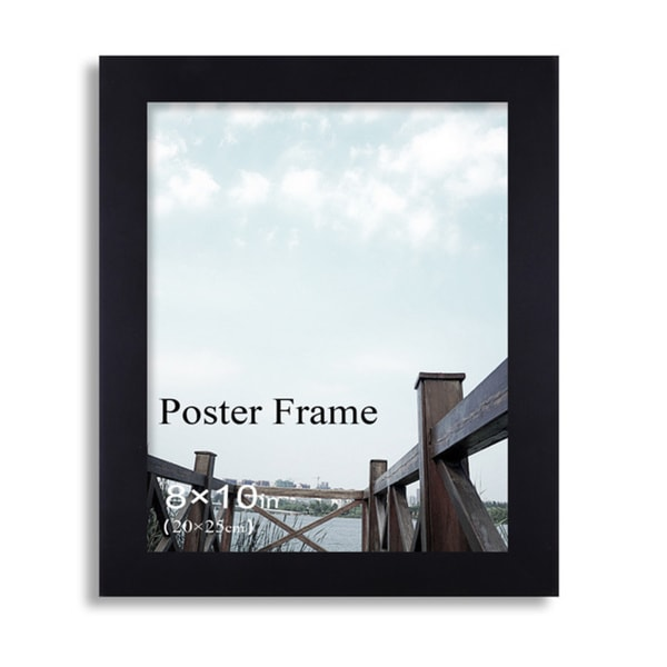 Adeco Clear Glass Window Black Poster Frame (8 x 10 inches)