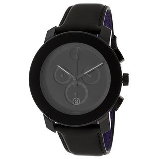 Movado Bold 3600089 Black Genuine Leather Watch