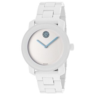 Movado Bold 3600158 White Steel and Resin Bracelet Watch