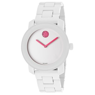Movado Bold 3600157 White Steel and Resin Bracelet Watch