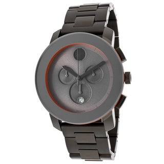 Movado Bold 3600142 Chronograph Gunmetal-Plated Stainless Steel Watch