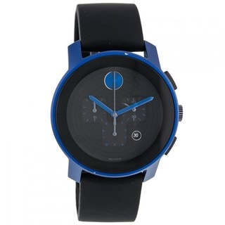 Movado Bold 3600108 Large Chronograph Black Silicone Strap Watch