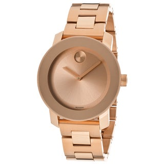 Movado Bold 3600188 Rose Dial Rose Gold Ion-plated Watch