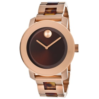 Movado Bold 3600189 Brown Dial Stainless Steel Bracelet Watch