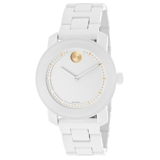 Movado Bold 3600186 White Dial White Ceramic Watch