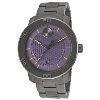 Movado Bold Men's 3600174 Blue Dial Grey IP Titanium Watch