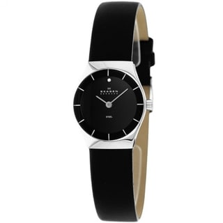 Skagen Women's SKW2048 Classic Black Leather Watch
