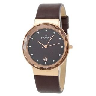 Skagen Women's SKW2123 Classic Three-hand Leather Watch
