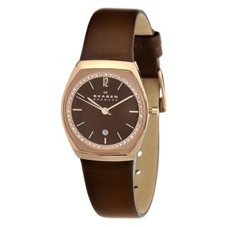Skagen Women's SKW2117 Brown Mother of Pearl Leather Watch