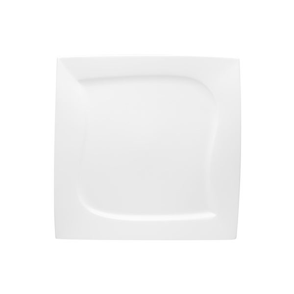 Red Vanilla 'Niagara' White Square 10-inch Dinner Plate (Set of 6) Glassware and Tableware Deals