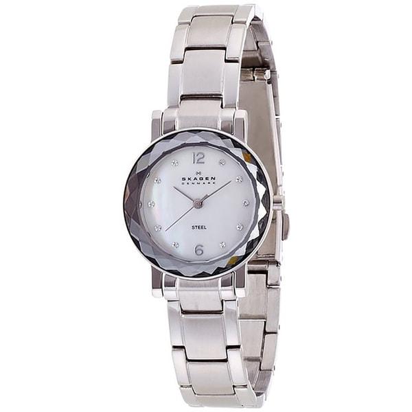Skagen Women's 457SSSX Silver Tone Link Watch