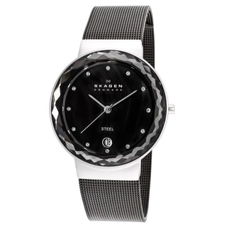 Skagen Women's 456LSM Gunmetal Stainless Steel Watch