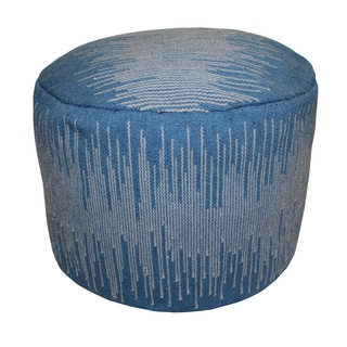 Outdoor Static Blue Pouf Ottoman