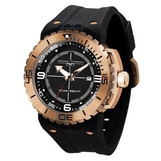 Jorg Gray Men's Stainless Steel Rose Goldtone Case and Bezel Watch