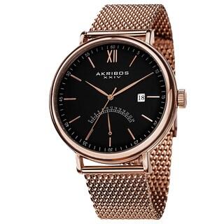 Akribos XXIV Men's Quartz GMT & Date Stainless Steel Strap Watch