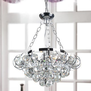 Joanne 4-light Chrome and Crystal Chandelier