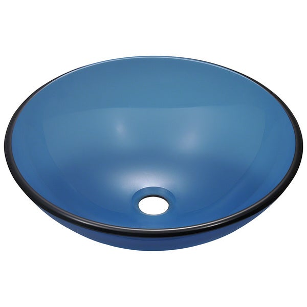 Polaris Sinks Aqua Coloured Glass Vessel Sink