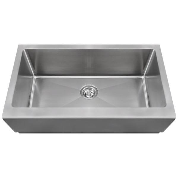 Apron Stainless Steel Sink : Polaris Sinks P504 Stainless Steel Single Bowl Apron Kitchen Sink ...