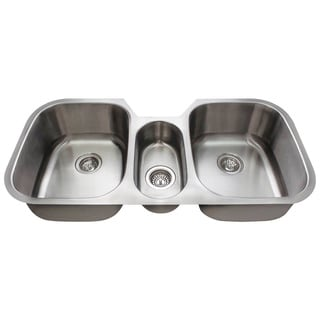 Polaris Sinks Triple Bowl Undermount Kitchen Sink