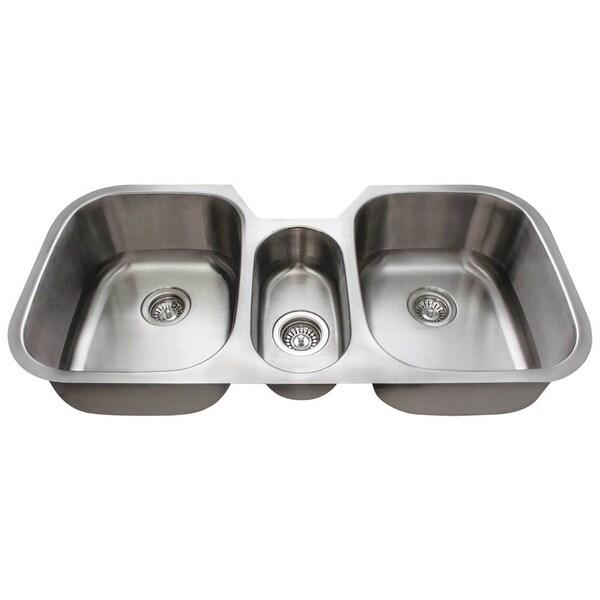Polaris Sinks Triple Bowl Undermount Kitchen Sink