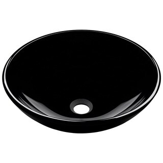 Polaris Sinks Black Glass Vessel Sink