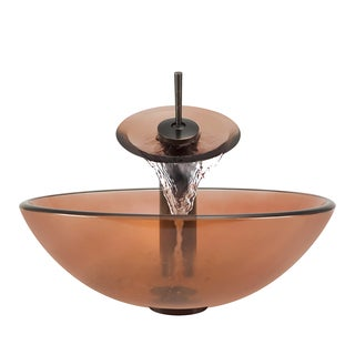 Polaris Sinks Coral/ Oil-rubbed Bronze 4-piece Bathroom Sink Ensemble