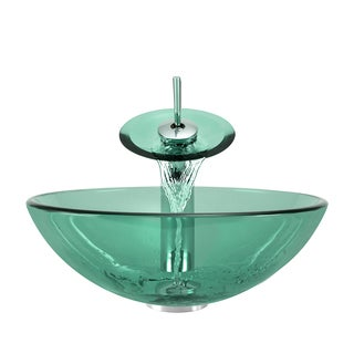 Polaris Sinks Emerald/ Chrome 4-piece Bathroom Sink Ensemble