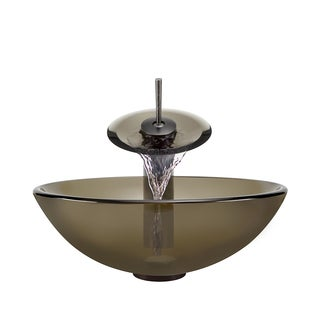 Polaris Sinks Taupe/ Oil-rubbed Bronze 4-piece Bathroom Sink Ensemble