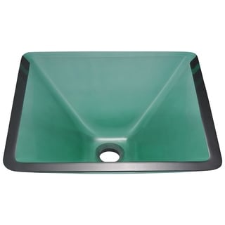 Polaris Sinks Emerald Colored Glass Vessel Sink