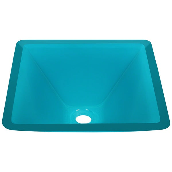 Polaris Sinks Turquoise Coloured Glass Vessel Sink